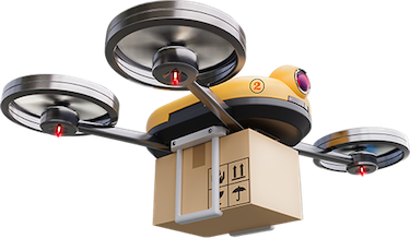 Deuce Drone-aerial drone with package.png