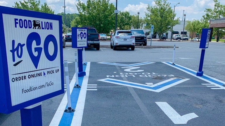 Food Lion To Go pickup parking spot