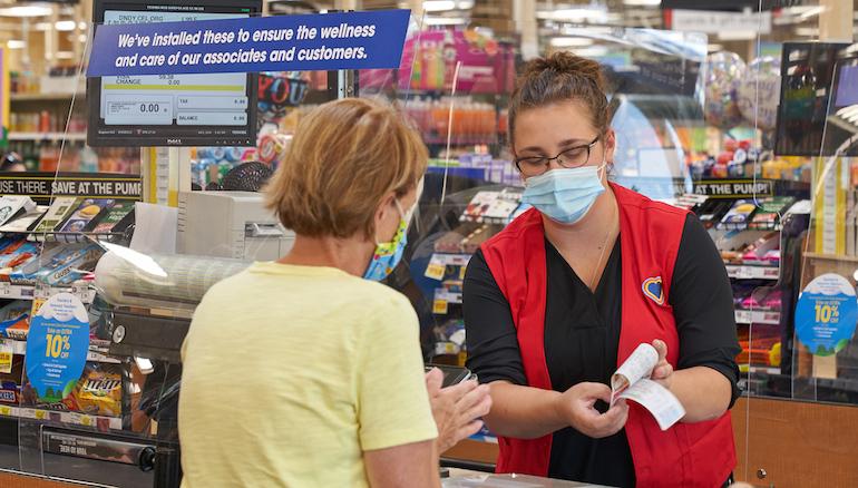 Kroger cashier-customer-COVID-face masks.jpg