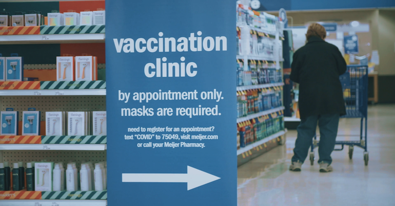 Meijer COVID vaccination clinic sign.png