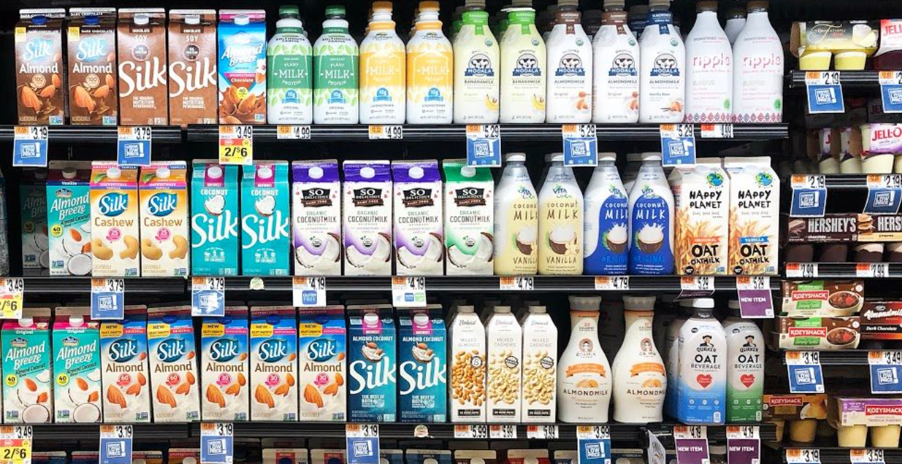 Plant-based milk dairy case-GFI Retail Report