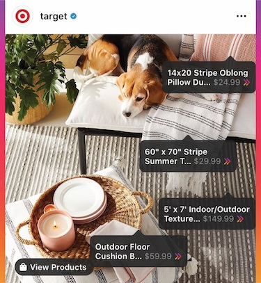 Target Instagram Checkout