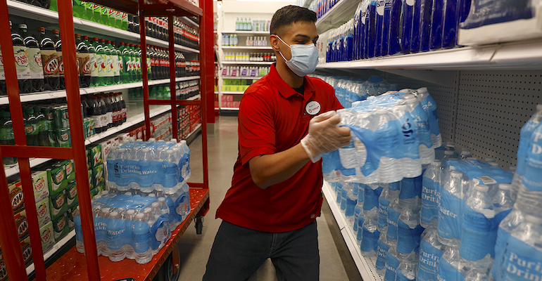 Target grocery store worker-COVID-face mask.JPG