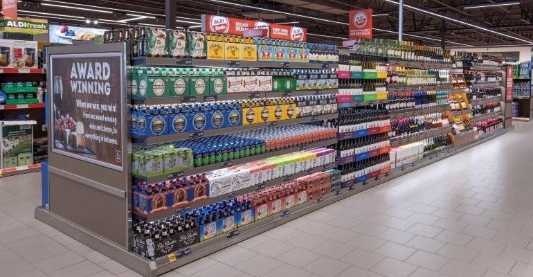 Aldi alcohol section