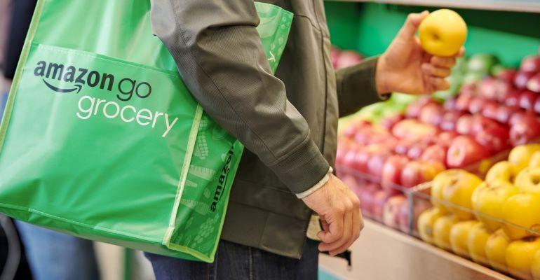 Amazon Go Grocery shopper