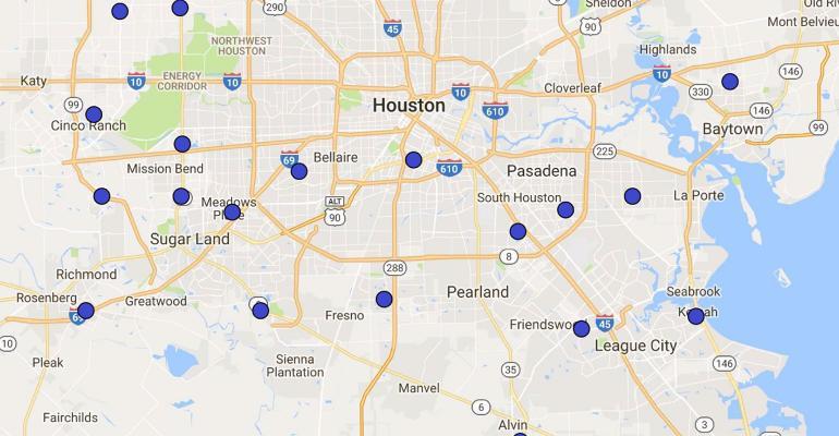 Aldi locations in Houston, Texas