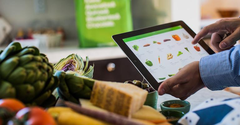 Instacart online grocery ordering-tablet