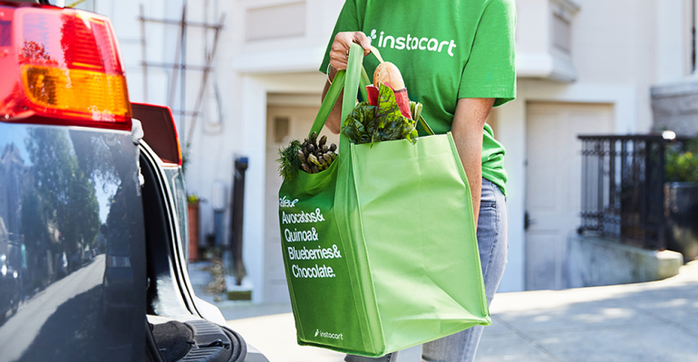 Instacart personal shopper-pickup