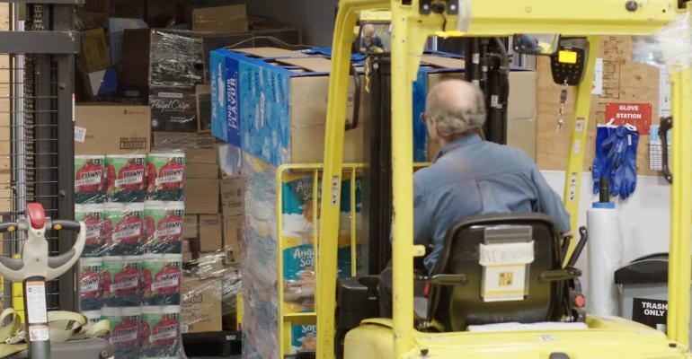 Kroger store inventory backroom-forklift