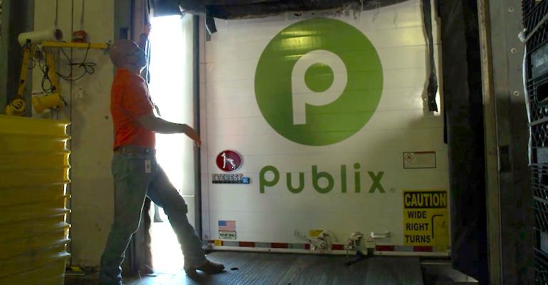 Publix truck-Feeding America delivery-produce milk rescue program