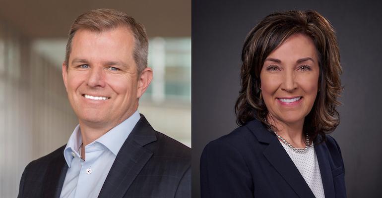 Rick Keyes of Meijer and Colleen Lindholz of Kroger Health