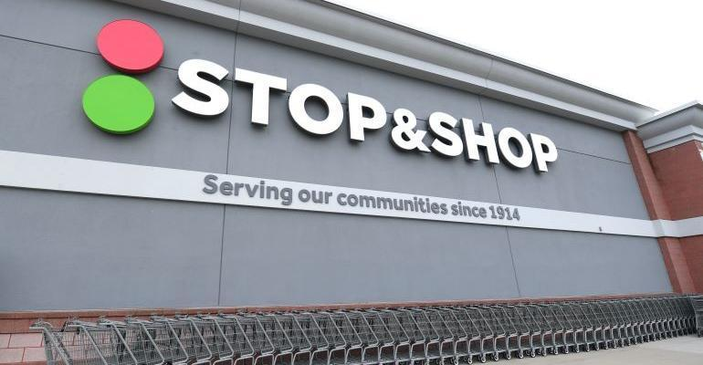 Stop & Shop store banner-shopping carts