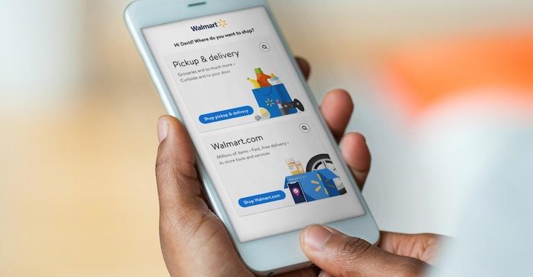 Walmart mobile app-grocery integration