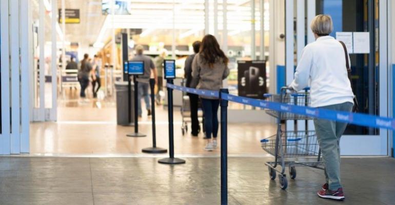 Walmart one-way aisles-coronavirus