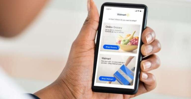 Walmart updated mobile app-grocery