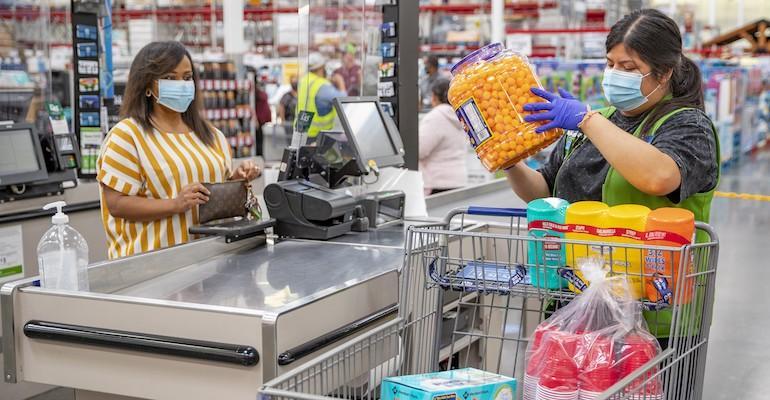 Walmart-customer-cashier-face masks