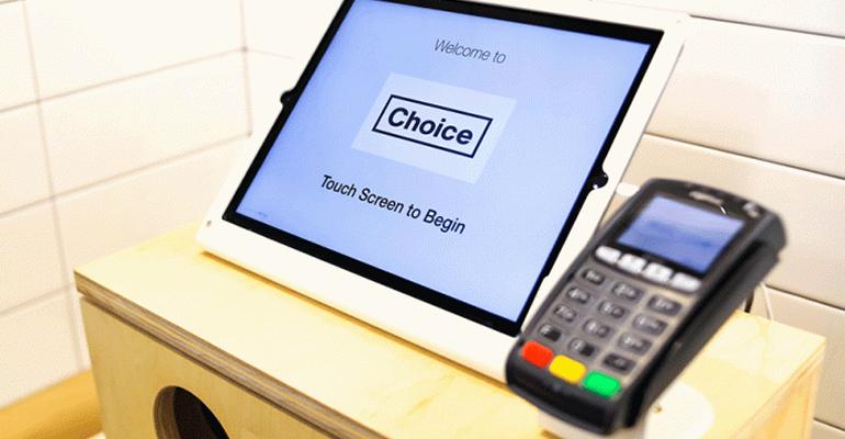 Choice Market kiosk