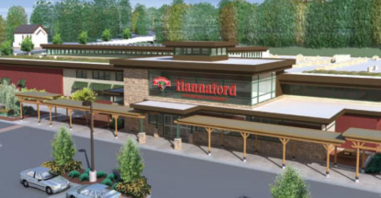 Hannaford Bros earned a Platinum Leadership in Energy and Environmental Design LEED certification for this store in Augusta Maine Fred Conlogue the chainrsquos director of design services reports that the storersquos sustainability extends well beyond the LEED construction initiative and inspired a new type of thinking throughout the organization