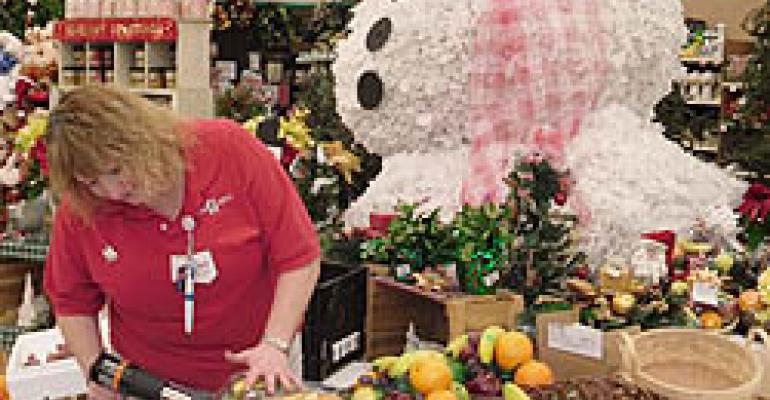 Food City's Snowman Helps Sell Fruit Baskets