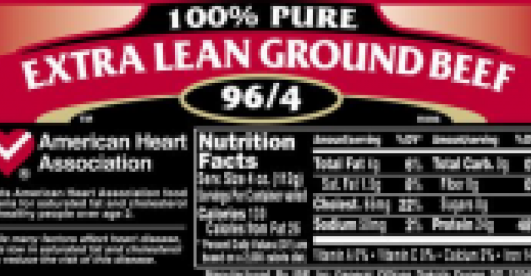 Nutrition Labeling Comes to the Meat Case
