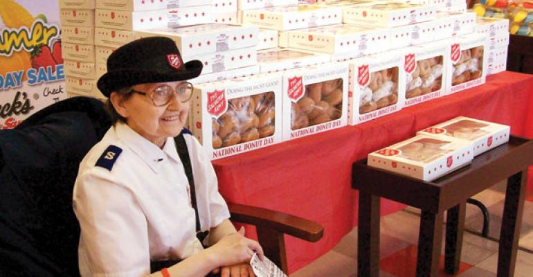 Riesbeckrsquos Food Markets hosted Kay Bonham from The Salvation Army on National Donut Day