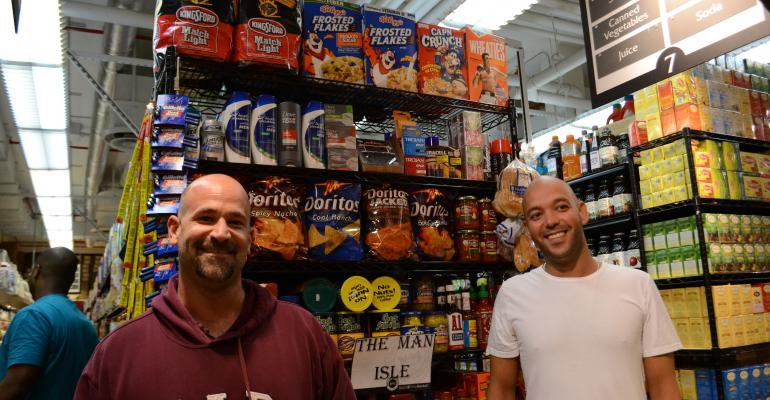 Westside Market COO Ian Joskowitz left and CEO George Zoitas created The Man Isle photo by Jenna Telesca