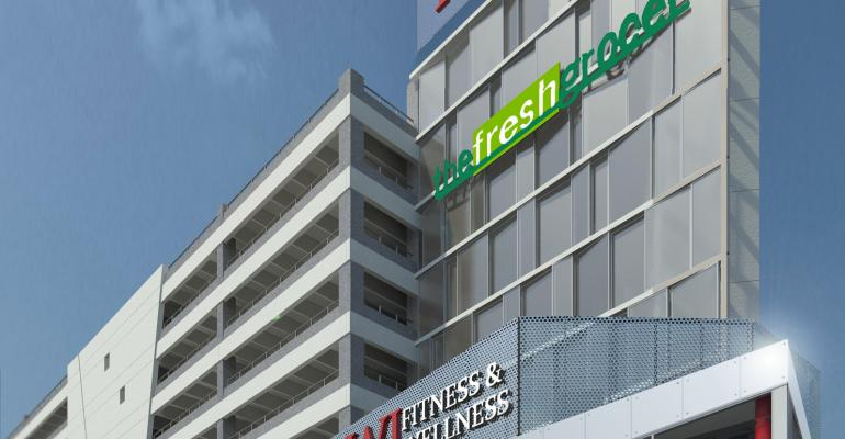 Supermarket to Anchor New 'Wellness Plaza'