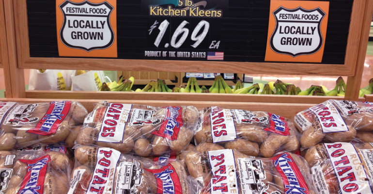 quotPotatoes are about all we have nowquot at Festival Foods after a freeze decimated the local apple crop