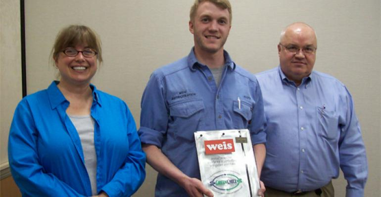 From left Keilly Witman manager of GreenChill Scott Sutton technician at Weis and Paul Burd manager refrigeration amp store service at Weis