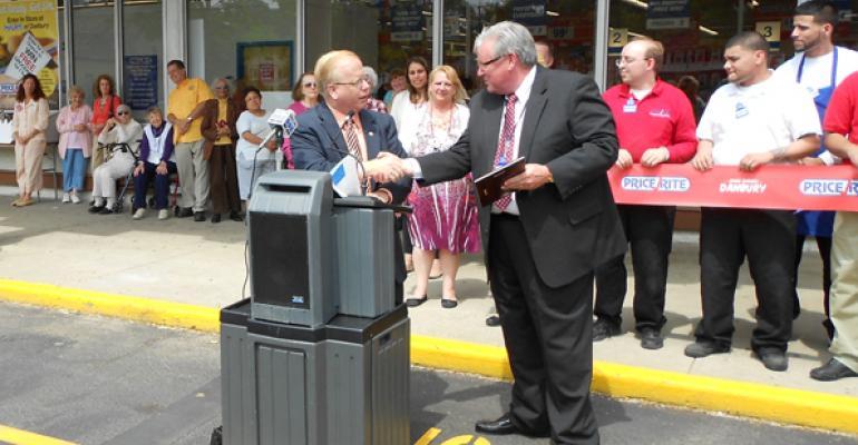 Danbury Mayor Mark Boughton and Neil Duffy president of PriceRite