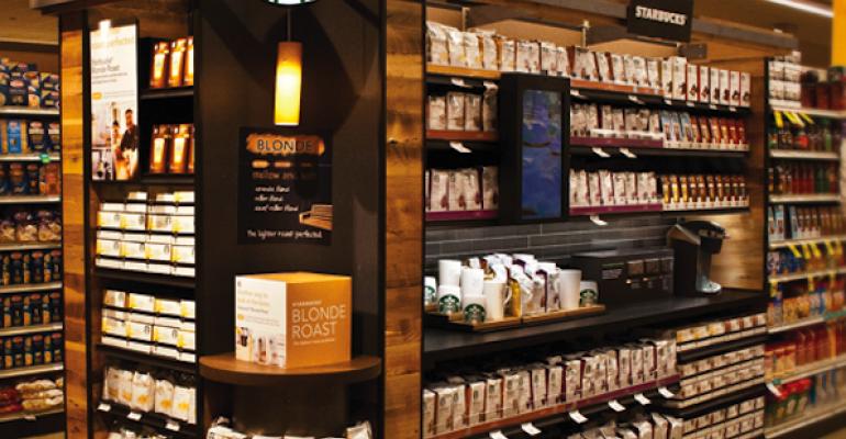 Safeway Coffee Aisles Get Starbucks Cafe Decor
