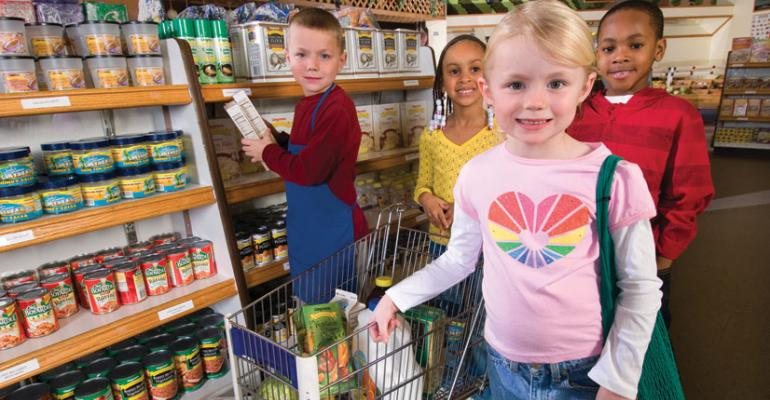 Children shop for food in the National Museum of Playrsquos Super Kids Market