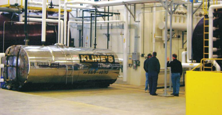 Food2Fuel equipment at Klines Services Weis recycling partner