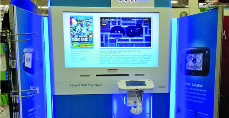 The winning Nintendo Wii U mass merchandiser display