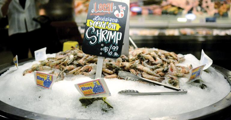 A display at a Rouses Markets store in New Orleans