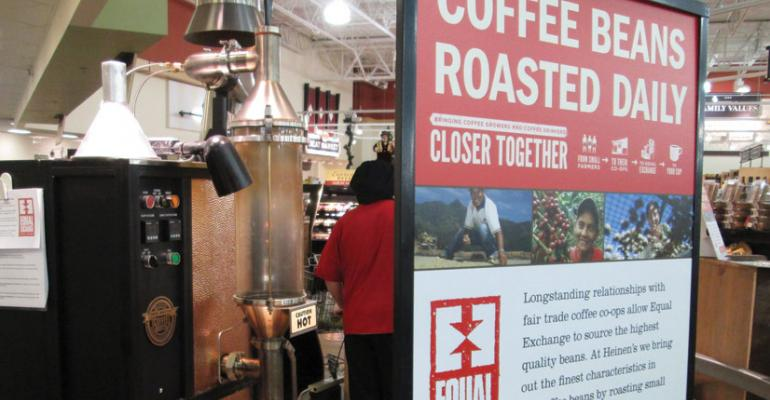 Heinenrsquos Fine Foods is the first retailer to roast Equal Exchange coffee in store