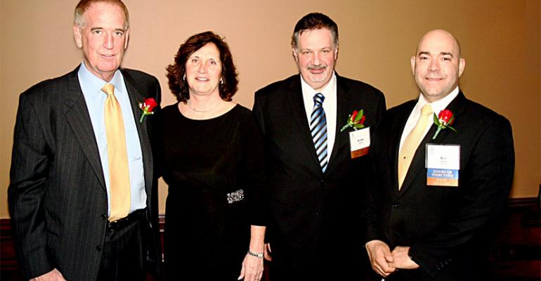 NJFC Industry Achievement Award winner Joe Sheridan of Wakefern left with Linda Doherty NJFC and Industry Achievement Award winners John Ruane of Ahold USA and Joe Sofia of Wegmans