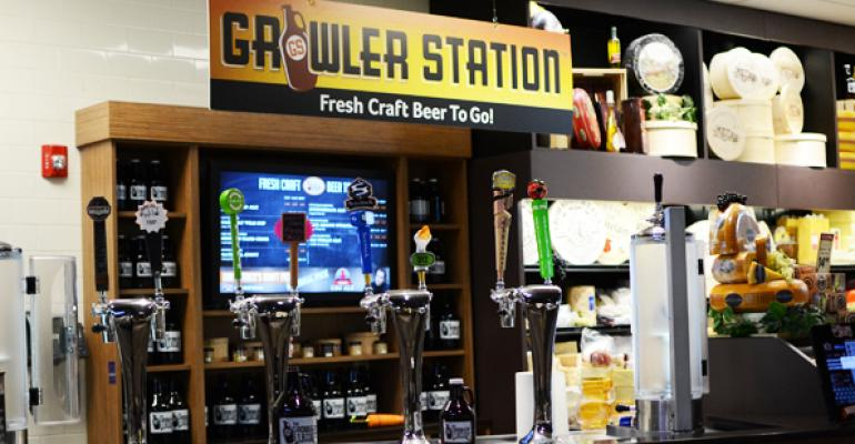 Local cider poured at Price Chopper
