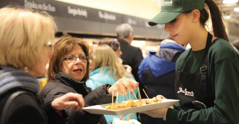 Mrs Greenrsquos celebrated its expansion to New Jersey with a store opening party featuring free samples of its fresh and prepared foods