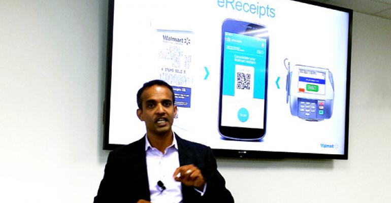 Gibu Thomas SVP of mobile and digital at Walmart  said the company39s new ereceipt program will form the base of a suite of tools making shopping easier