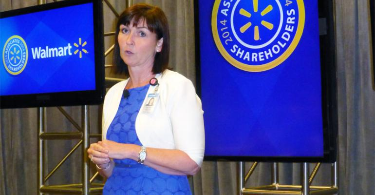 Judith McKenna chief development officer for Walmart US said the new pickup station to be built by Walmart later this year is based in part on Asda39s success with click and collect in the UK