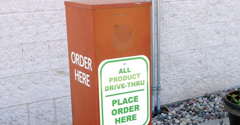 Express makes it clear that all products are available in the drivethrough