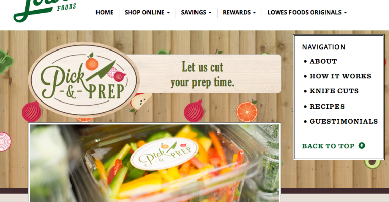 Lowes Foods offers in-store produce prep