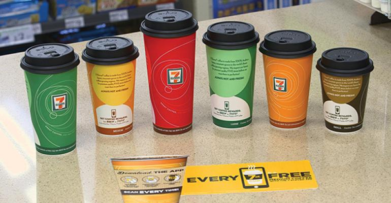 Customers can purchase any size coffee to earn rewards