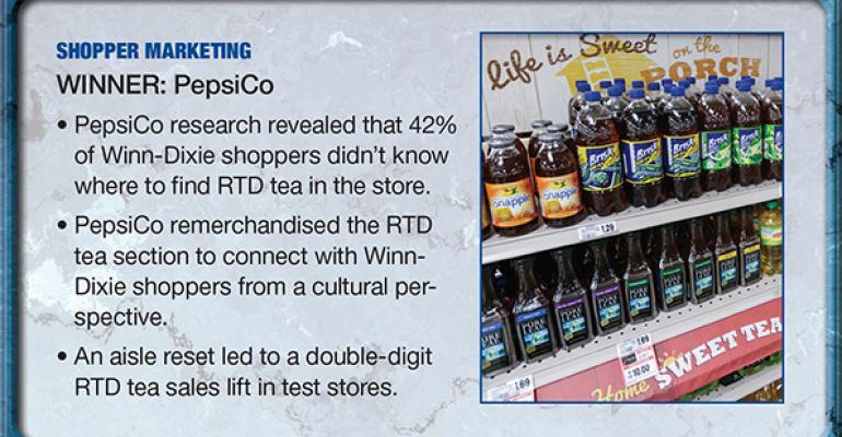 PepsiCo: 2014 Supplier Leadership Award winner for Shopper Marketing