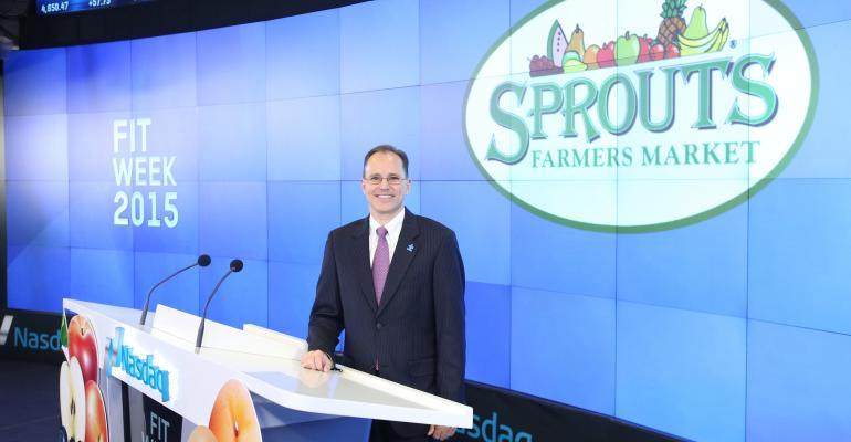 Sprouts CEO Doug Sanders at Nasdaq MarketSite in New York