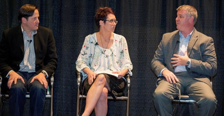 From left Scott Silverman KeHE Distributors Rhonda Siltman Coborn39s Todd MacGrath Presence Marketing Photo by Michael Goulding