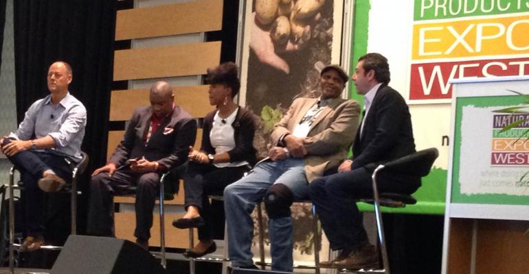 From left Whole Foods39 Walter Robb James Dukes bishop of the Liberation Christian Center Will Allen of Growing Power Robin Emmons of Sow Much Food and Oscar Gonzalez Northgate Gonzalez Market