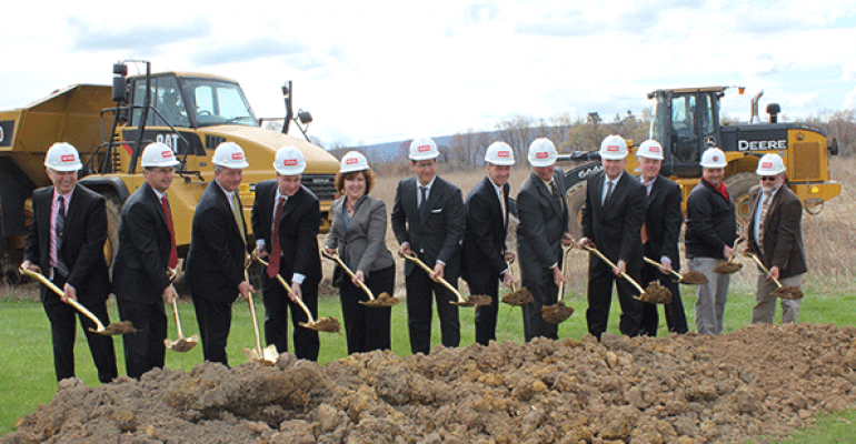 Weis officials break ground on the expansion of company39s Milton Pa cold storage facility