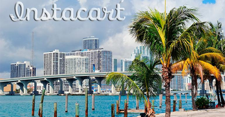 Instacart launches in Miami, reveals Whole Foods sales